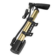 Насос для велосипеда з кріпленням на раму. Насос ручний для велосипеда та підкачування м'ячів, фото 3