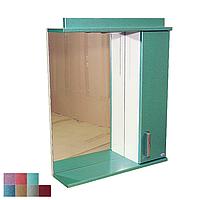 """Зеркало для ванной комнаты с подсветкой и шкафчиком """"Колибри"""" 55iz"""