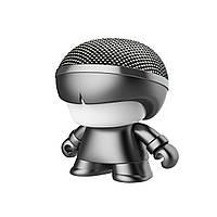 """Wels Акуст. система XOOPAR серии """"Металлик"""" - Mini XBOY (7,5 cm,сер.,Bluetooth,USB-каб,подсв., ремешк.), фото 1"""
