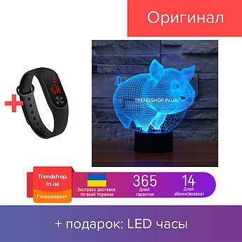 3D светильник 'Поросёнок' (1103)