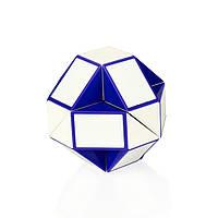 Головоломка rubik's - змейка (бело-голубая) кубик рубик, фото 1