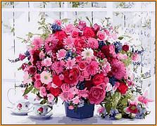Картина по номерам Babylon Розовые хризантемы 40*50 см арт.NB1233R