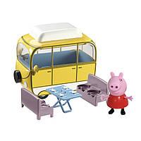 Игровой набор Peppa - ВЕСЕЛЫЙ КЕМПИНГ (автобус, фигурка Пеппы), фото 1