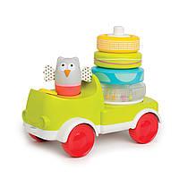 Wels Развивающая машинка с пирамидкой – совушка малышка два в одном Taf Toys, фото 1
