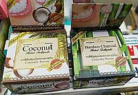 Тайская натуральная отбеливающая зубная паста Prai Thai Herbs с кокосом бамбуком / натуральна відбілююча паста