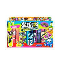 Набор ароматных маркеров для рисования - ШТРИХ 12 цветов Scentos, фото 1