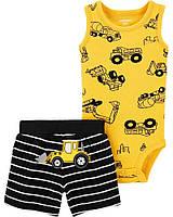 Трикотажный летний комплект - боди и шортики Техника Картерс для мальчика