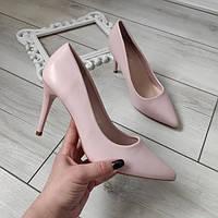 Туфли женские на каблуке шпильке экокожа