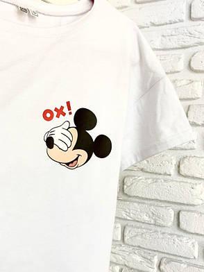 Футболка белая с принтом Mickey Mouse OX!, фото 2