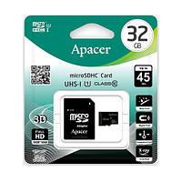 Карта памяти micro-SD 32Gb APACER + переходник SD (10 CLASS)