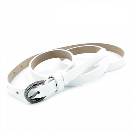 Женский кожаный ремень Weatro Белый nwzh-15k-23, фото 2