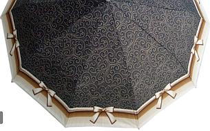 Зонт ZEST, полуавтомат серия 10 спиц, расцветка Бантик коричневый, фото 2
