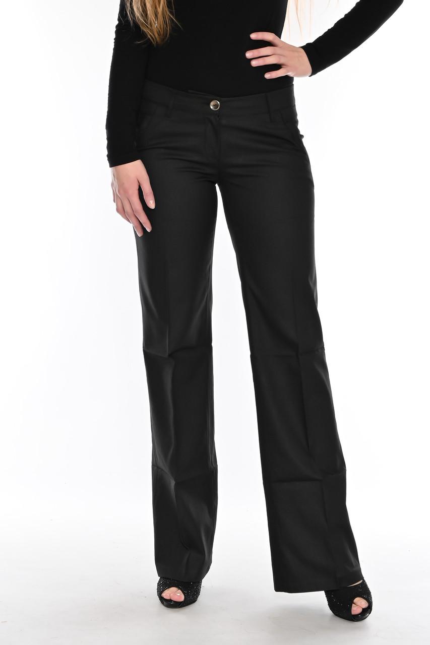 Женские брюки клеш от бедра OMAT jeans 9848 черные