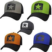 Модная летняя кепка Street Star ✫ The Beatles (зелено-черная) Тракер звезда, фото 4