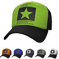 Модная летняя кепка Street Star ✫ The Beatles (зелено-черная) Тракер звезда, фото 3