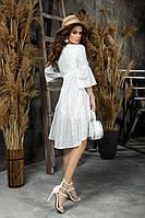 Женское платье прошва,рукав три четверти в размере от 42 до 48