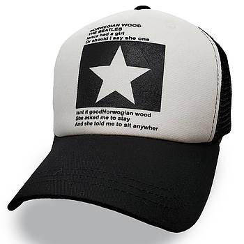 Модная летняя кепка Street Star ✫ The Beatles (зелено-черная) Тракер звезда черно-зеленый