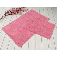 Набор ковриков для ванной Jasmine розовый 60*100 + 45*60