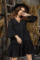 Женское платье прошва,свободного кроя в размерах от 42 до 48