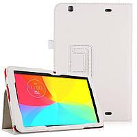 Белый чехол для LG G Pad 10.1 V700 из синтетической кожи.