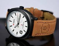 Мужские часы Curren Chronometer GMT-8 белый циферблат
