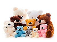 Плюшевые игрушки Мишки сидячие, лежачие