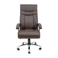 Кресло для руководителей Richman Бургас Хром М2 коричневое