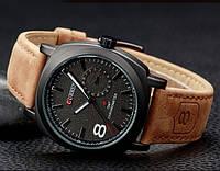 Мужские часы Curren Chronometer GMT-8 черный циферблат