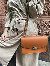 592-1 Натуральная кожа, клатч рыжий кирпичный, кожаная сумка женская рыжая кросс-боди рыжая кирпичная кожаная, фото 2