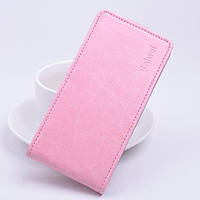 Чехол флип для Sony Xperia C5 Ultra нежно розовый