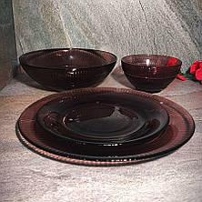 Десертная тарелка 19 см из цветного стекла Luminarc Луиз Лилак (L5169), фото 3