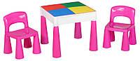 621567 Стол и 2 стульчика Tega Mamut 899P dark pink-white, фото 1