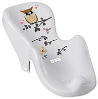 624770 Горка для купания Tega Owl (Plus Baby) PB-SOWA-003 нескользящая 106 gray