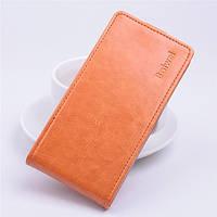 Чехол флип для Sony Xperia C5 Ultra оранжевый, фото 1