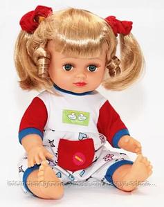 Кукла в стильном наряде, пластик, текстиль, размер 16*6*25 см, высота 33см, красный, бордовый