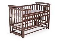 Детская кровать-трансформер для детей от 0 до 5 лет из натурального дерева DeSon Лодочка TRANSFORMER Орех