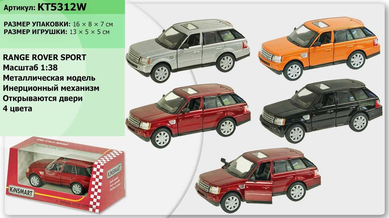 "Машина метал ""KINSMART"" KT5312W (96шт/4)""Range Rover"", в коробці 16*8*7см"