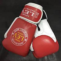 """Бокс. рукавички ЛЕВ """"ВІП"""" 12 ун. червоно/білий, шкіра"""