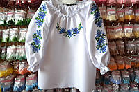 Детская заготовка сорочки на девочку ДС-04