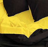 Комплект постельного белья полуторный Бязь GOLD 100% хлопок  Желто- черный