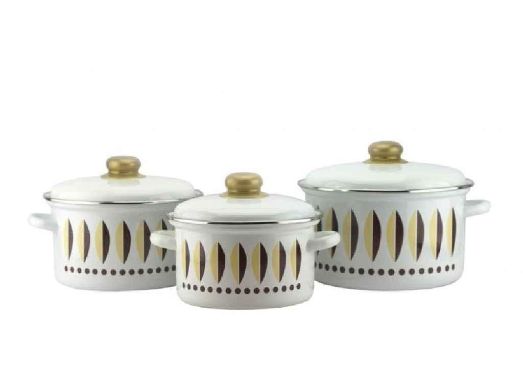 Набор эмалированной посуды Эмаль Кофейный 3 предмета (2-3158/4)