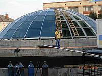 Фасадное остекление зданий, крыши, купола