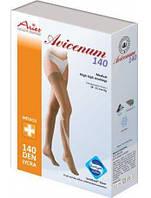 Чулки Aries Strong кружевная резинка, закрытый носок, черный, 140 ден, 1