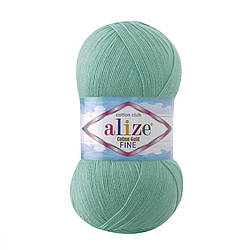 Пряжа Cotton Gold fine Alize, №15, водяная зелень