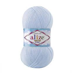 Пряжа Cotton Gold fine Alize, №40, голубой