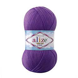 Пряжа Cotton Gold fine Alize, №44, т. фиолетовый