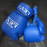 Бокс. перчатки ЛЕВ кожзам 10 ун синие