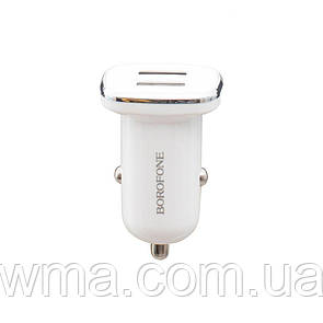 Авто Зарядное Устройство Borofone BZ12 2.4A 2 USB Цвет Белый