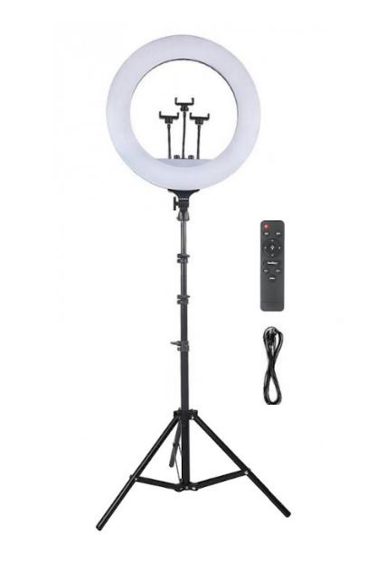 Набір RL-21 Професійна кільцева лампа 54см з штатив-триногою, пультом, USB, трьома кріпленнями