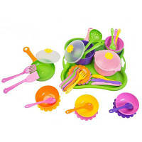 Игровой набор Тигрес Набор посуды Ромашка 43 эл (39149)